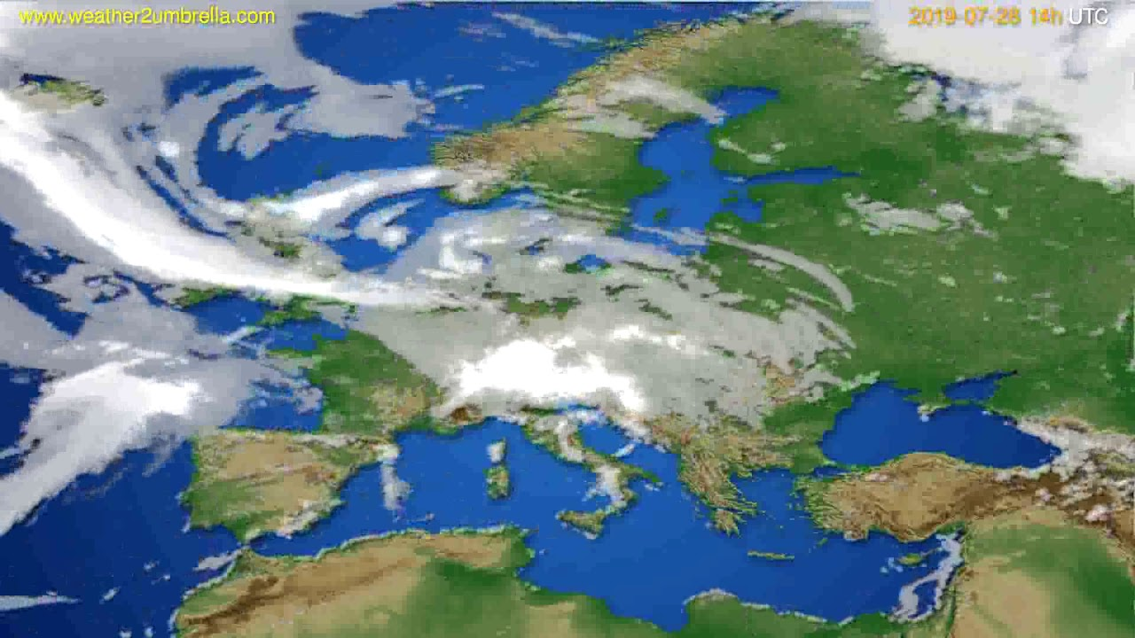 Cloud forecast Europe // modelrun: 00h UTC 2019-07-26