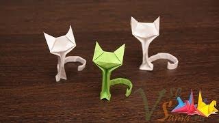 Оригами - кошечка (Origami - the cat) - YouTube