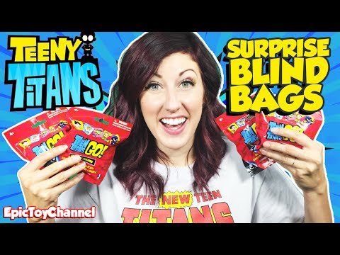 TEEN TITANS GO! Game Play Teeny Titans App & New Surprise Blind Bags Teen Titans by Epic Toy Channel