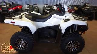5. 2020 Suzuki KingQuad 750AXi Power Steering SE in White at Maxeys Motorsports in Oklahoma City