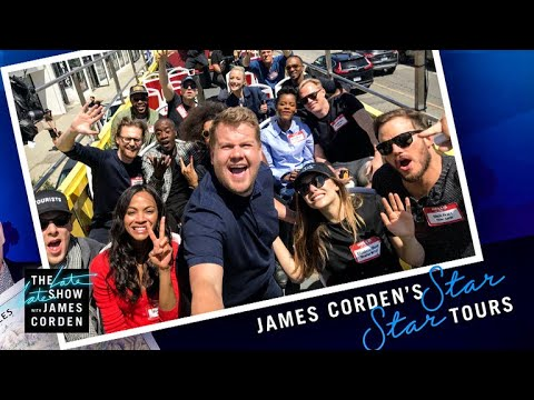'Avengers: Infinity War' Cast Tours Los Angeles w/ James Corden