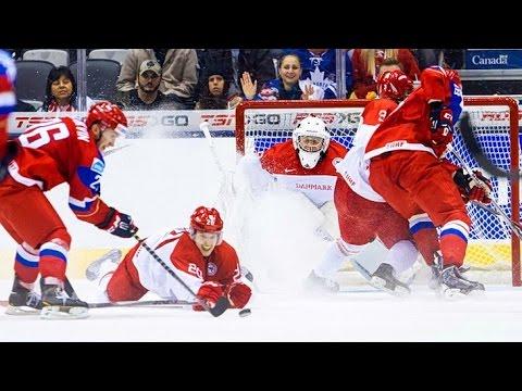 Хоккей: Россия - Дания 10:1 Обзор матча & Все голы / Чемпионат Мира / 12.05.2016 (видео)