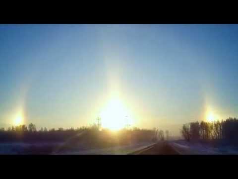 รัสเซียดวงอาทิตย์ขึ้น 3 ดวงยามเช้า