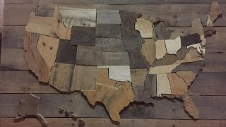 This a quick tutorial video on how to make your own patriotic Wall decoration. Its a wood wall map of the United States of America. Its made from pallet wood. Hope you enjoy the video