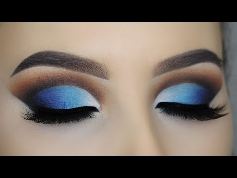 Blue Glam Cut Crease Tutorial