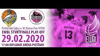 Piestanske Cajky – Rostov-Don-SFEDU – EWBL 2019/20