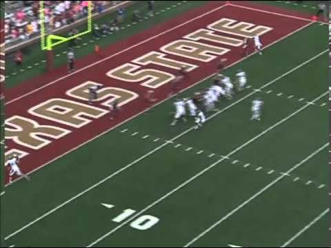 Texas State - Career highlights of 2013 draft eligble cornerback.