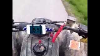 6. 03 Honda TRX 400ex TOP SPEED