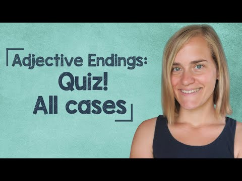 German Lesson (139) - QUIZ! - Adjective Endings - Definite & Indefinite Articles - ALL CASES - A2