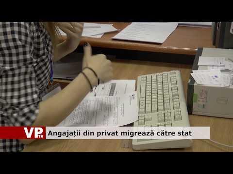Angajatii din privat migrează către stat