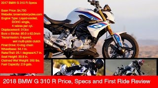 9. 2018 BMW G 310 R Price, Specs and First Ride Review
