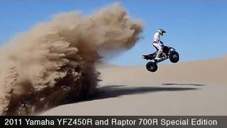 6. 2011 Yamaha YFZ450R & Raptor 700 SE ATVs - MotoUSA