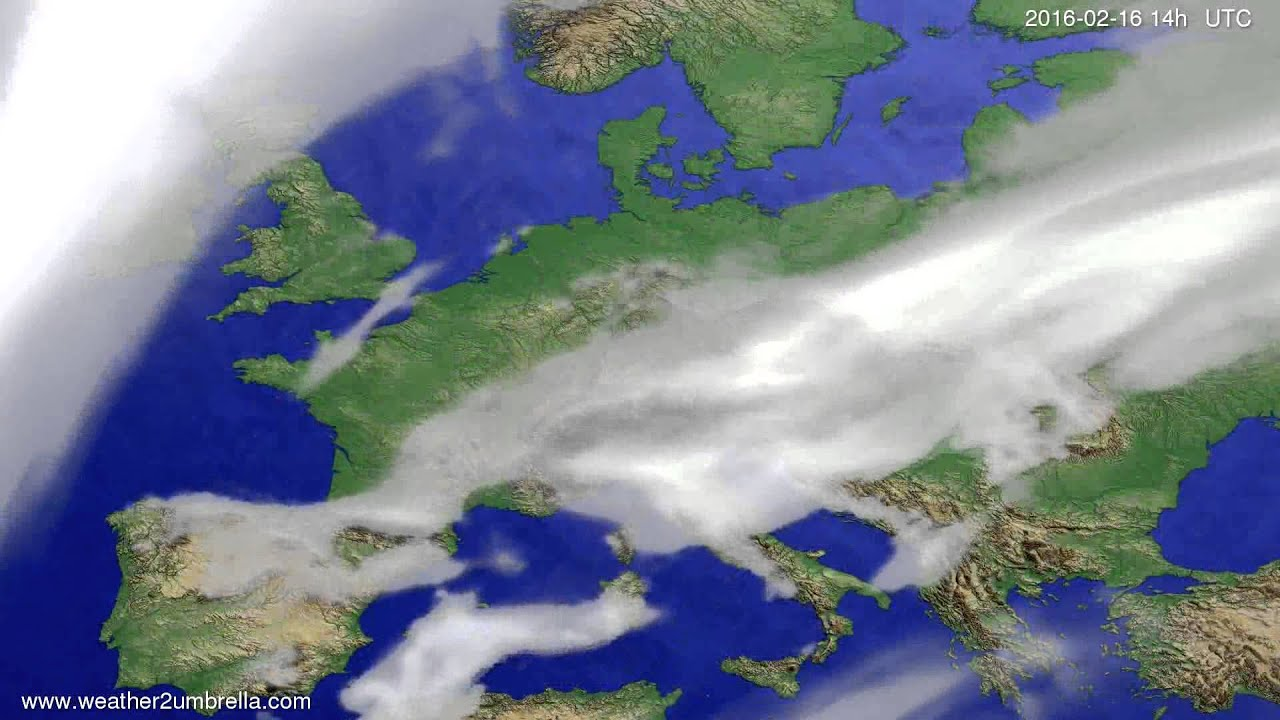 Cloud forecast Europe 2016-02-12