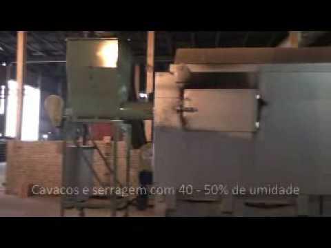 Queimador de Biomassa com Pirólise Lippel - Gerador de Ar Quente