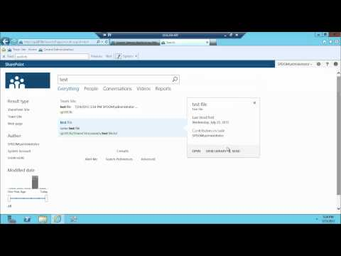 Enterprise Search - SharePoint search is a critical part of the SharePoint platform and in this screencast we take a look at what SP 2013 preview search is all about. Some of th...