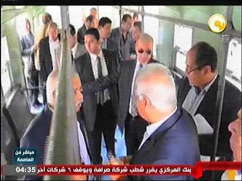 وزير النقل يتفقد اعمال تطوير محطة قطارات طنطا و كوبرى دمنهور