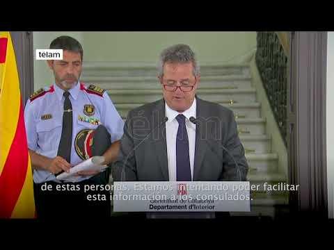 El ministro del Interior de Cataluña informó sobre las víctimas del atentado en Barcelona.