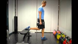 Bulgarian Split-Squat (Knee Dominant)