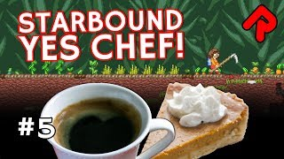 We test how difficult the Starbound Yes Chef & More Farming mods get: can we make a pumpkin pie & coffee from scratch?