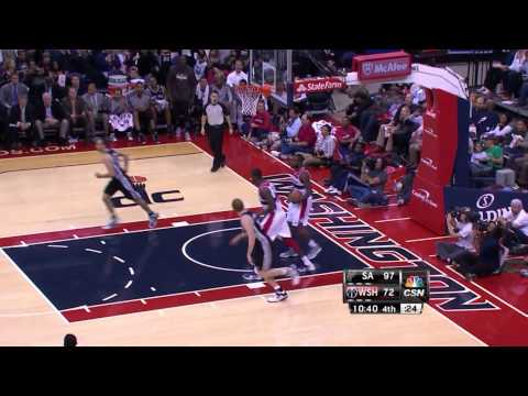 Nice steal from Ginobili vs. Wizards