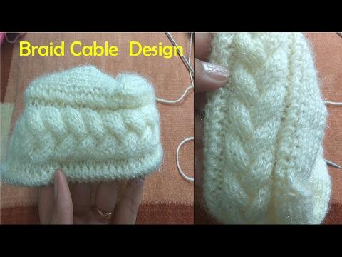 maglia - lavorazione con motivo a forma di treccia