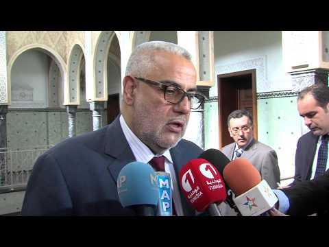 ابن كيران يجري مباحثات مع رئيس الحكومة التونسية