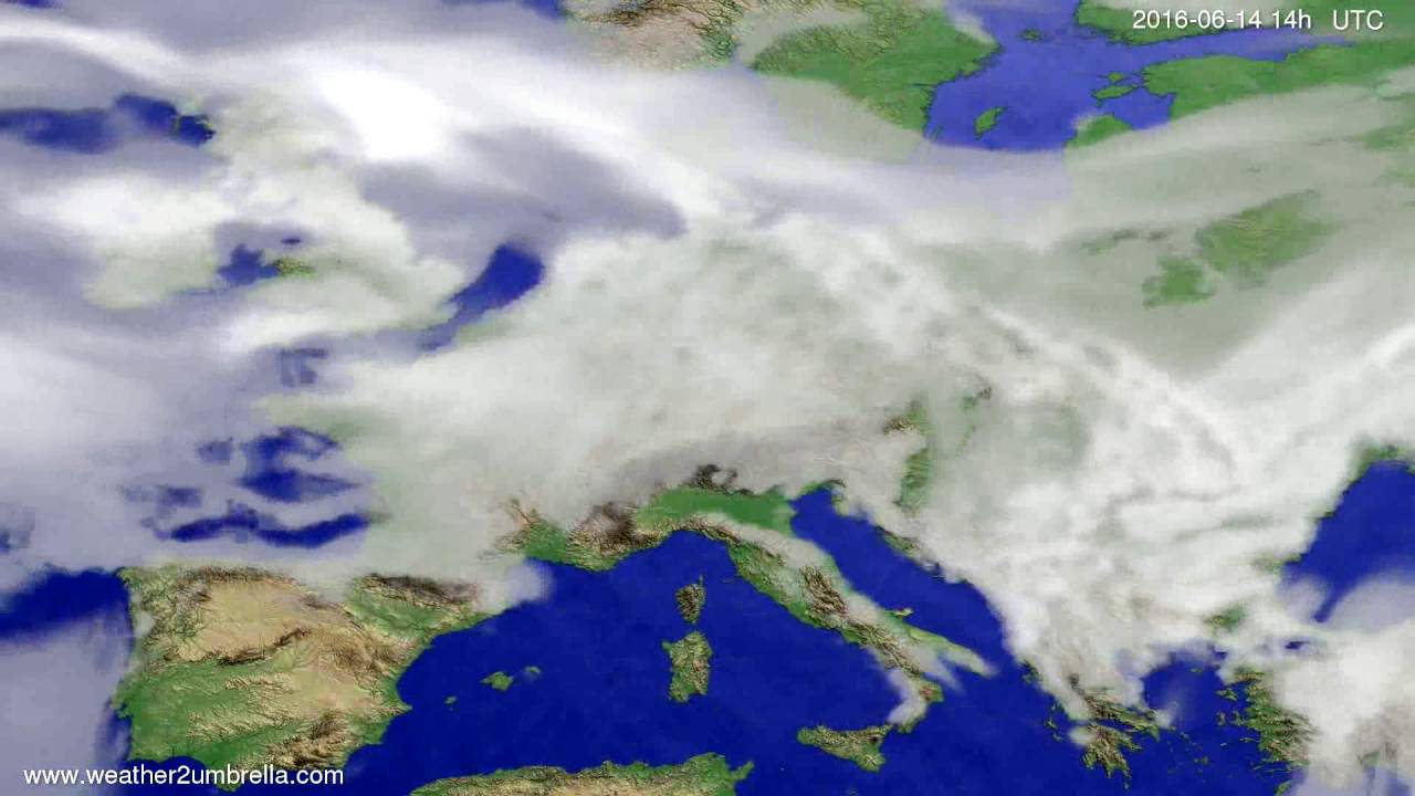 Cloud forecast Europe 2016-06-10