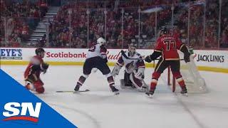 Flames' Austin Czarnik Shoots, Breaks Stick, Scores by Sportsnet Canada