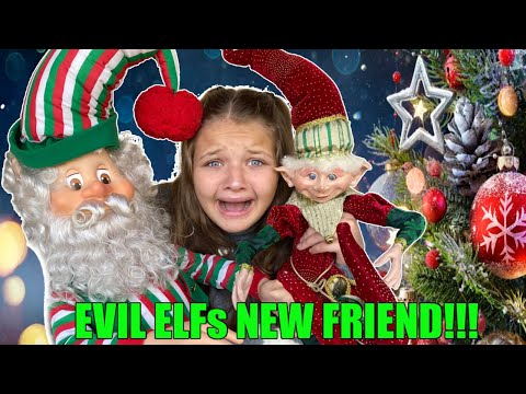 EVIL ELF is BACK with PRESENTS! AUBREY and CALEB Find another CREEPY Elf in The HOUSE!