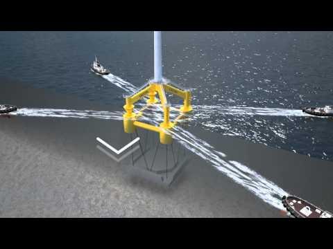 Transport und Installation GICON®-SOF mit Fundament und Schwergewichtsanker