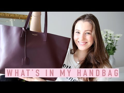 What's In My Handbag? YSL/Saint Laurent Tote Bag Review