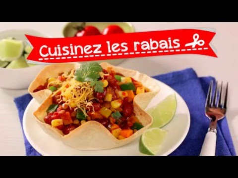 Chili végétarien en bol croustillant