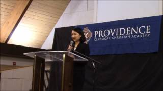 Rebecca Doctor presents a ten minute summary of her Senior Thesis project to the community at Providence Classical Christian...