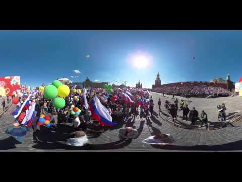 Видео 360: первомайское шествие профсоюзов - DomaVideo.Ru
