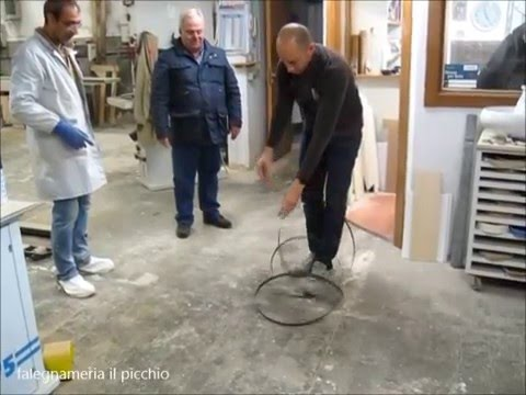 Come di avvolge e si trasporta una lama per sega a nastro