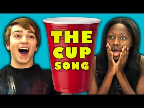 cup - Cup Song Bonus Video: http://goo.gl/0IsMi SUBSCRIBE! New vids every Sun & Thu: http://bit.ly/TheFineBros Watch all episodes of REACT http://goo.gl/4iDVa Watc...