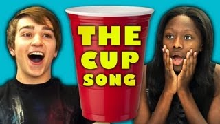 TEENS REACT TO THE CUP SONG