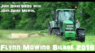 Flynn's Bailing Mowing Silage with a John Deere 6920 in Kilmeaney  Co Kerry 2016.Hope you in Enjoy Please Subscribe or Like also Follow on Twitter @agri_jmLike on Facebook JM Agri Videos.
