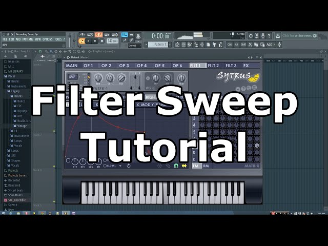 how to make white noise sweep in fl studio 12