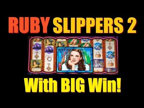 ★ BIG SLOT MACHINE FUN WINS!! Wizard of Oz Ruby Slippers 2 Slot Machine Bonus! ~WMS