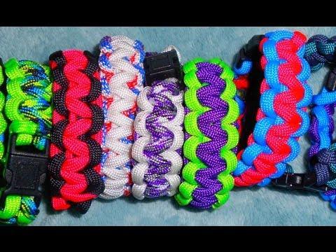 How To Make A 2 Color Paracord Bracelet