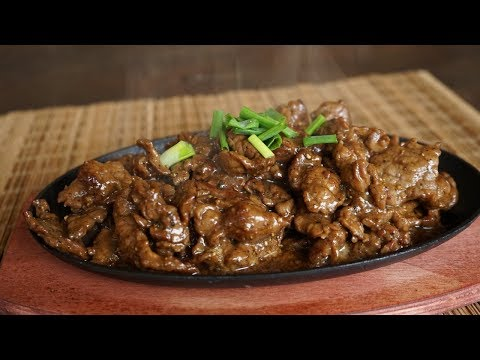 How to make Sizzling Black Pepper Beef - technique to make beef very tender - Morgane Recipes