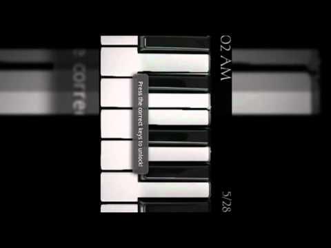 Video of Piano Lock Screen