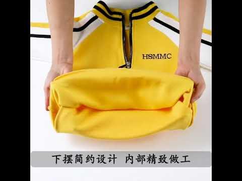 Модный комплект одежды для девочек спортивный костюм подростков осенний топ с д… видео