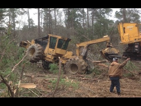 Movin In The Log Loader! Stuck Truck Skidder Dozer Logging