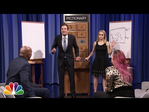 Pictionary with Jimmy Fallon, Kristin Bell, Steve Harvey & Demi Lovato