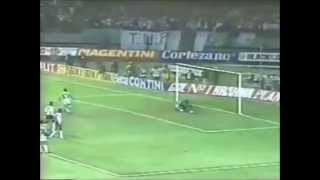 Gol de Evair, o quarto, na vitória de 4 a 0 sobre o Corinthians em partida válida pela decisão do campeonato paulista de 1993.