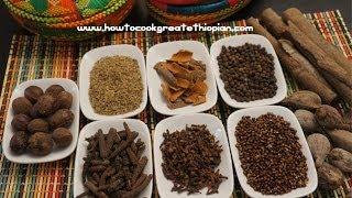 Ethiopian Food - Mekelesha Wot Kimem Recipe Amharic English Finishing Spice - Injera