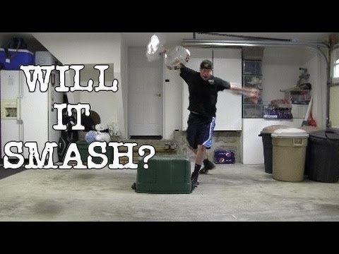 WILL IT SMASH? (L.A. BEAST sees if his mom's fine china will pass the durability test)