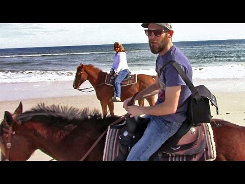 Campervan RV Living - Horseback Riding on the Beach at Amelia Island Florida